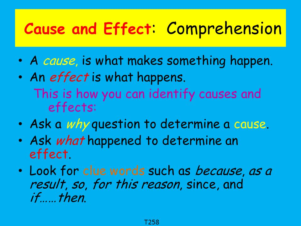 Cause and Effect: Comprehension