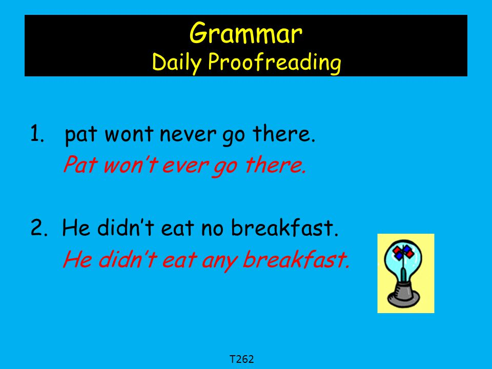 Grammar Daily Proofreading