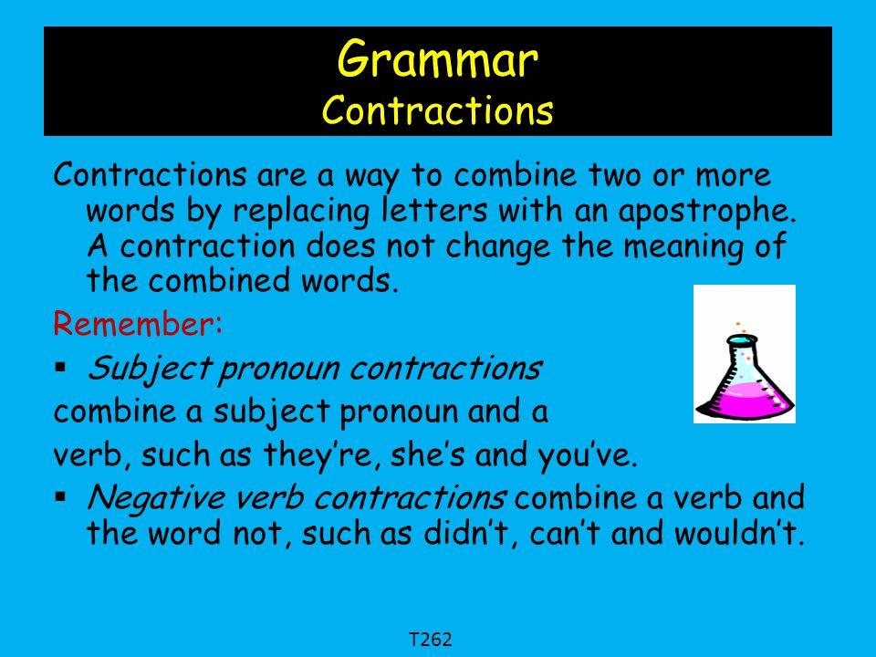 Grammar Contractions