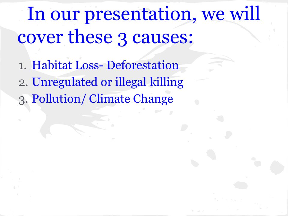 In our presentation, we will cover these 3 causes: