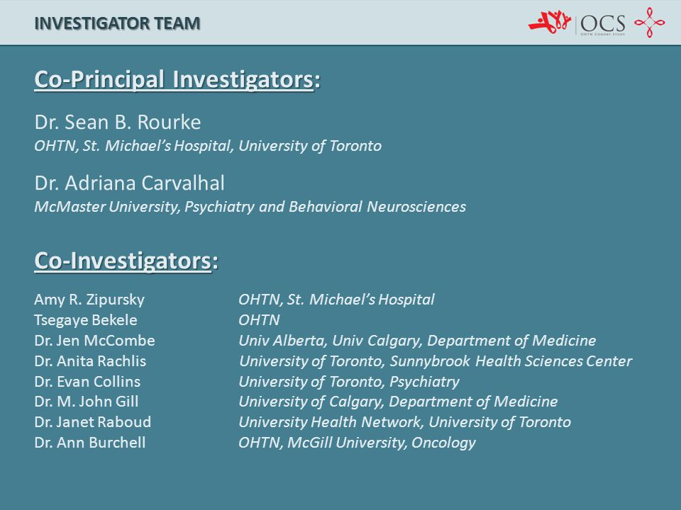 Co-Principal Investigators: