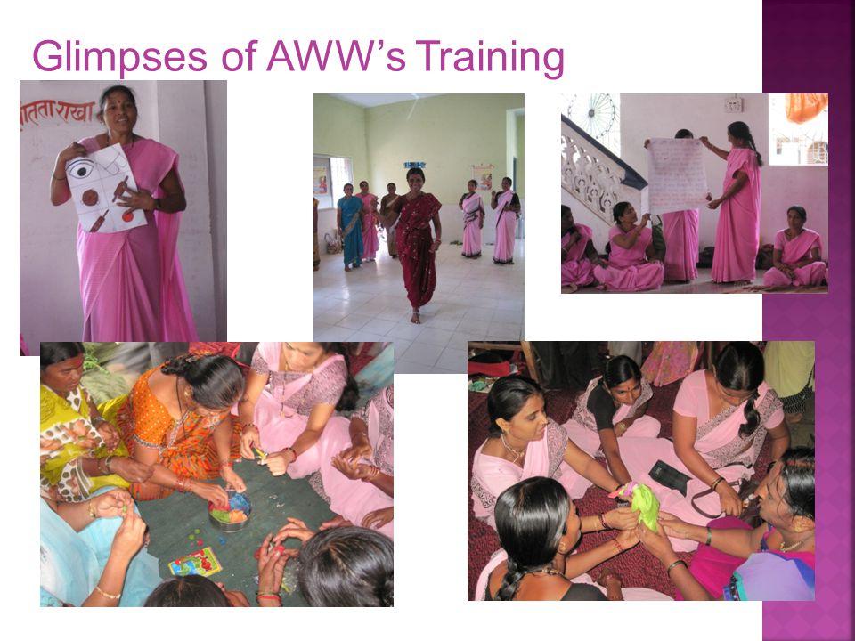 Glimpses of AWW's Training