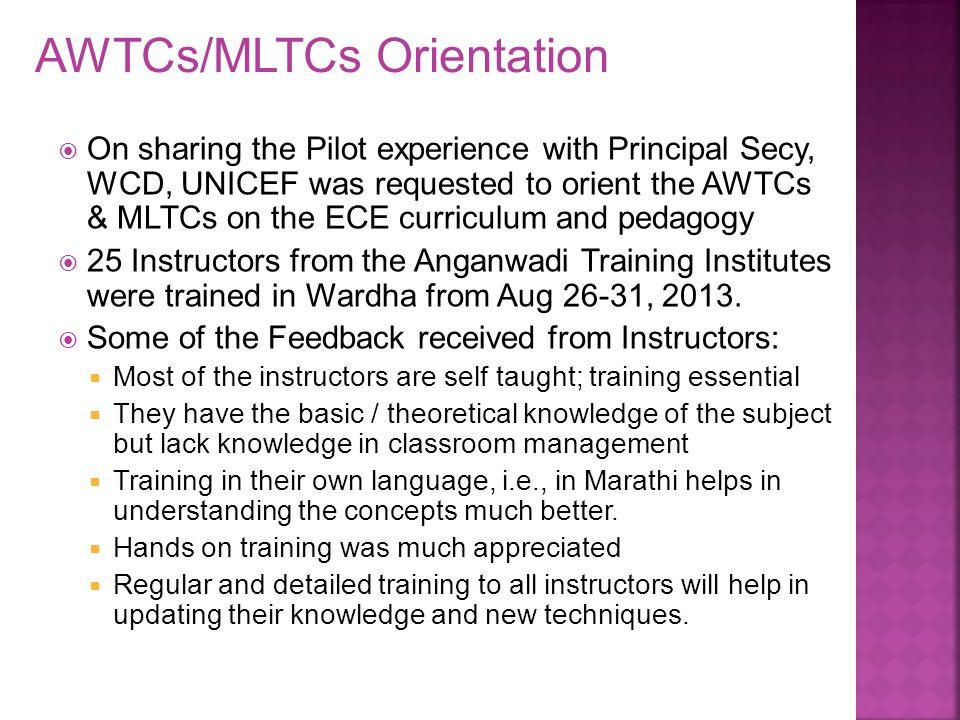 AWTCs/MLTCs Orientation