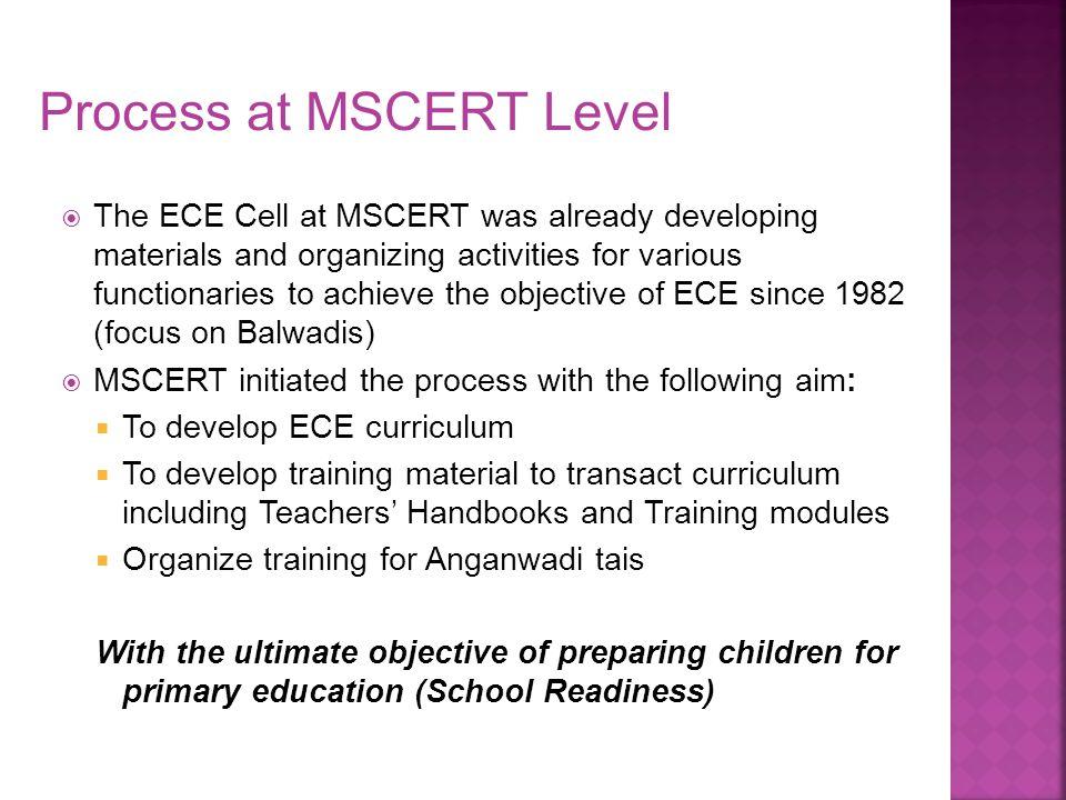 Process at MSCERT Level