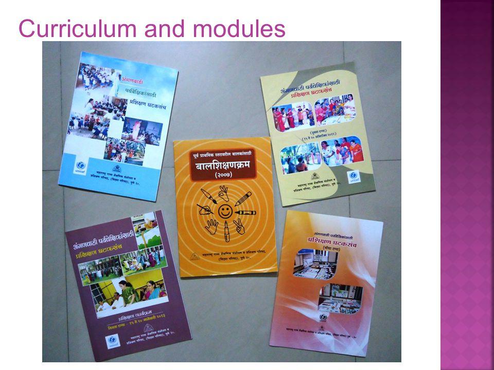 Curriculum and modules
