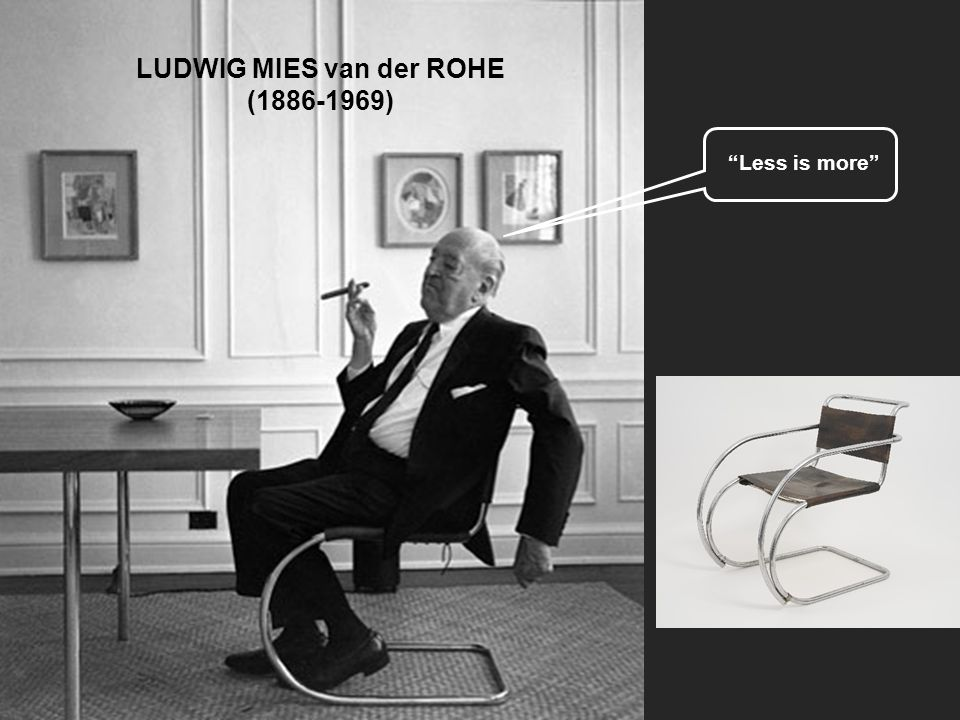 ludwig mies van der rohe ppt video online download. Black Bedroom Furniture Sets. Home Design Ideas