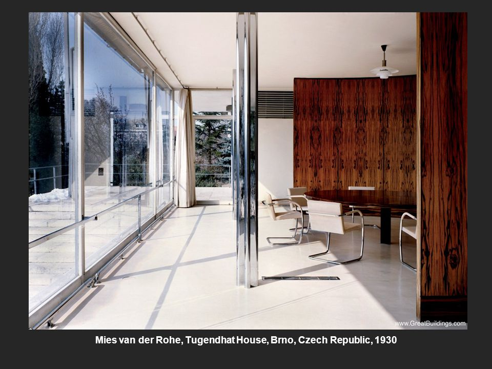 Mies van der Rohe, Tugendhat House, Brno, Czech Republic, 1930