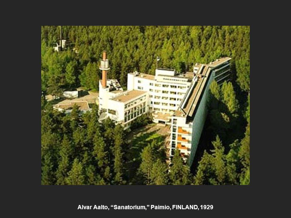 Alvar Aalto, Sanatorium, Paimio, FINLAND, 1929