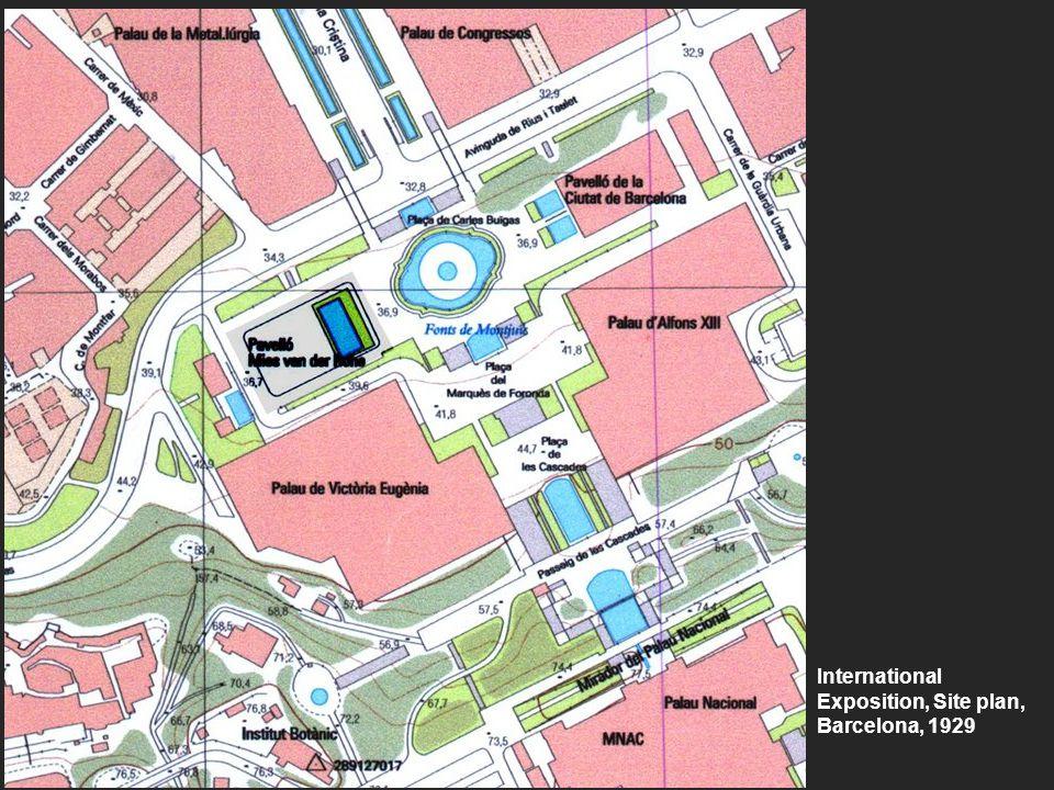 International Exposition, Site plan, Barcelona, 1929