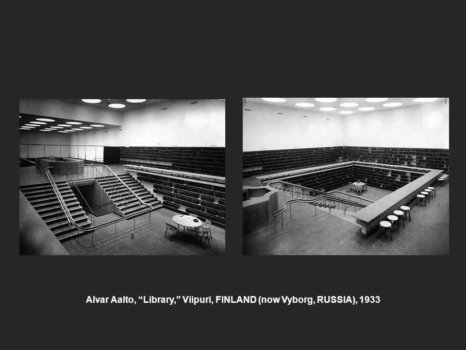 Alvar Aalto, Library, Viipuri, FINLAND (now Vyborg, RUSSIA), 1933