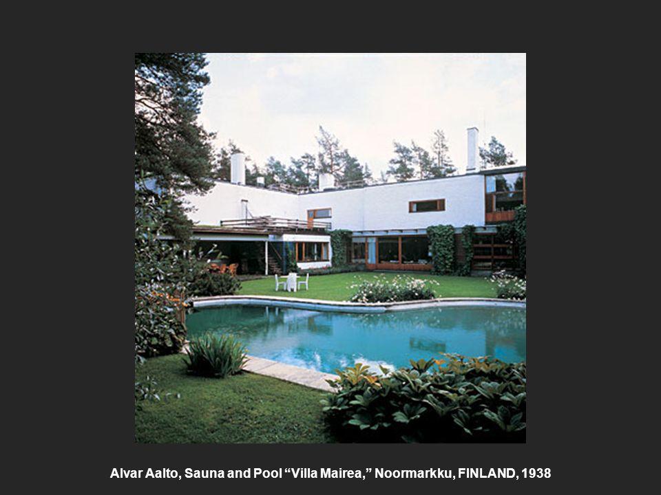 Alvar Aalto, Sauna and Pool Villa Mairea, Noormarkku, FINLAND, 1938