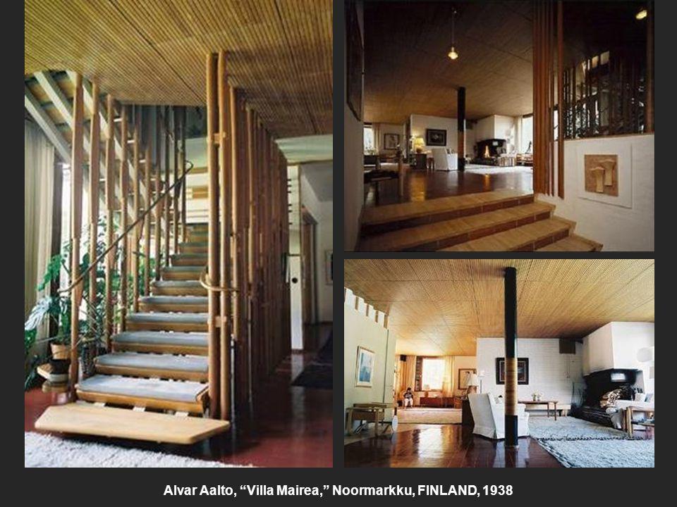 Alvar Aalto, Villa Mairea, Noormarkku, FINLAND, 1938