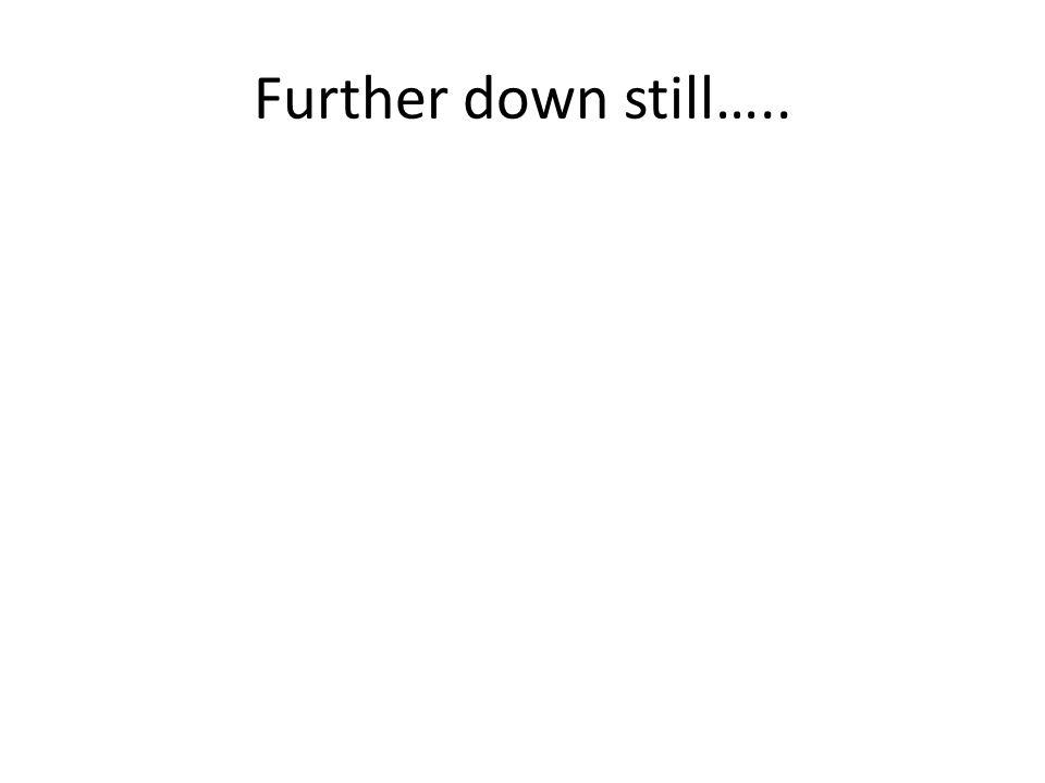 Further down still…..