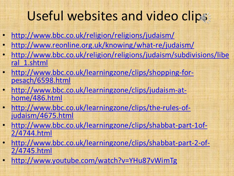 Useful websites and video clips