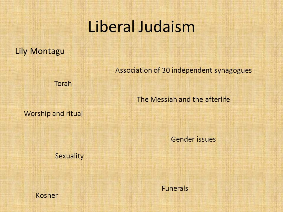 Liberal Judaism Lily Montagu Association of 30 independent synagogues
