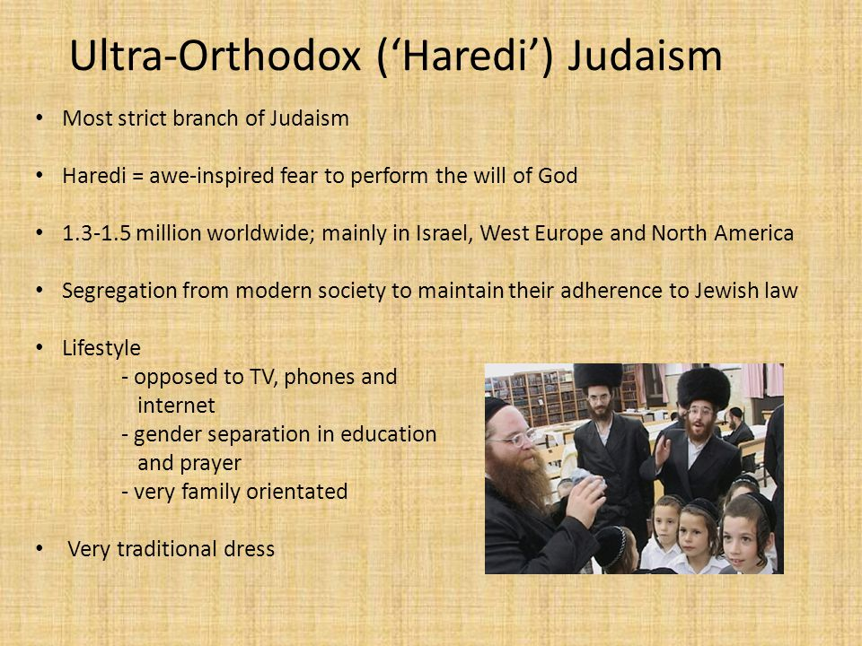Ultra-Orthodox ('Haredi') Judaism