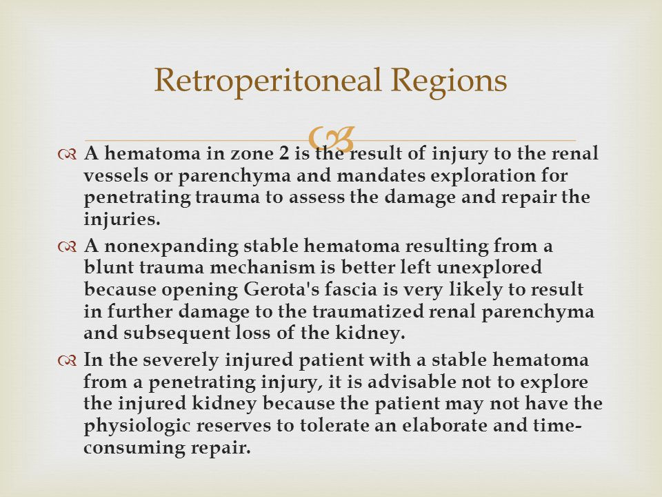 Retroperitoneal Regions