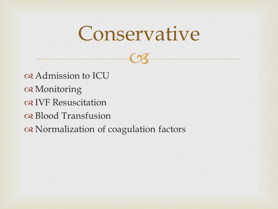 Conservative Admission to ICU Monitoring IVF Resuscitation