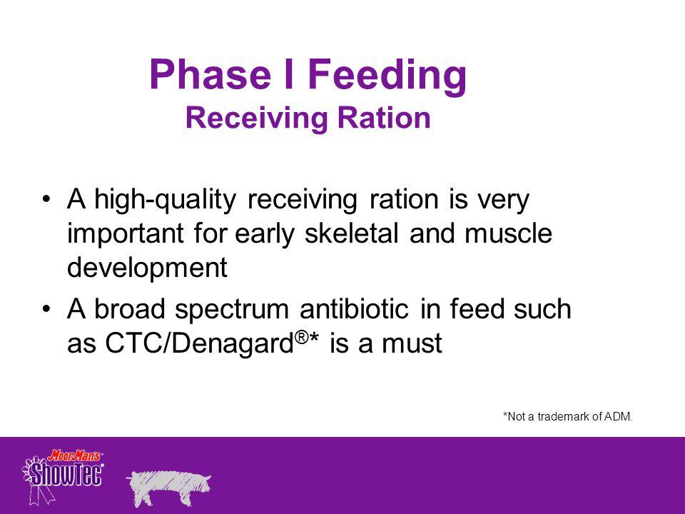 Phase I Feeding Receiving Ration