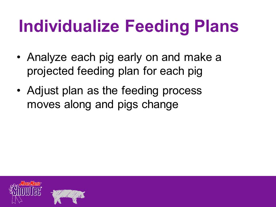 Individualize Feeding Plans