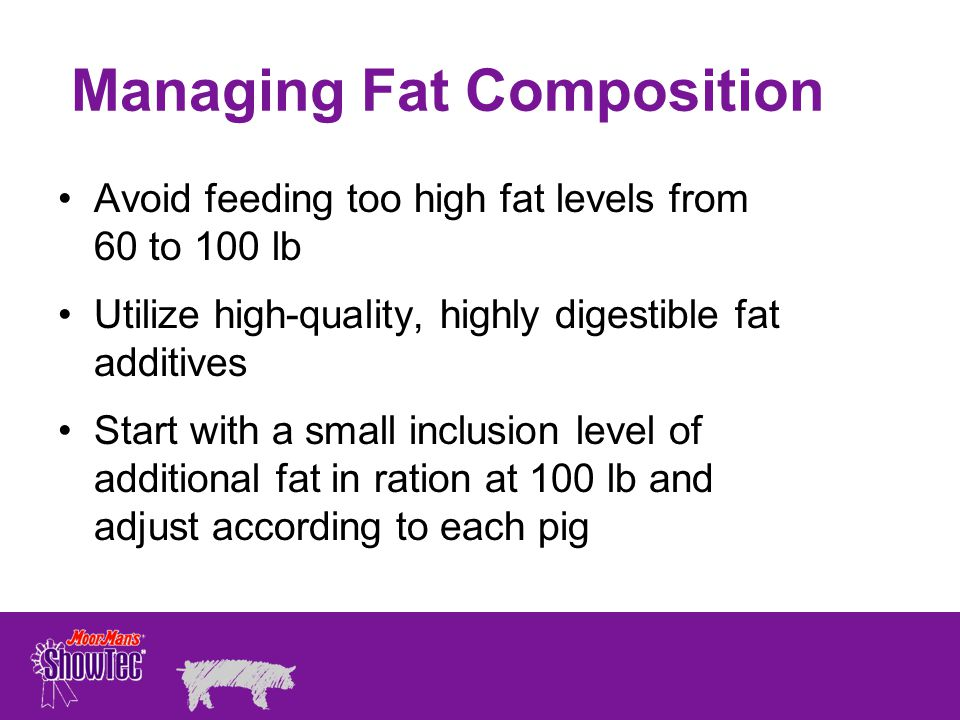 Managing Fat Composition