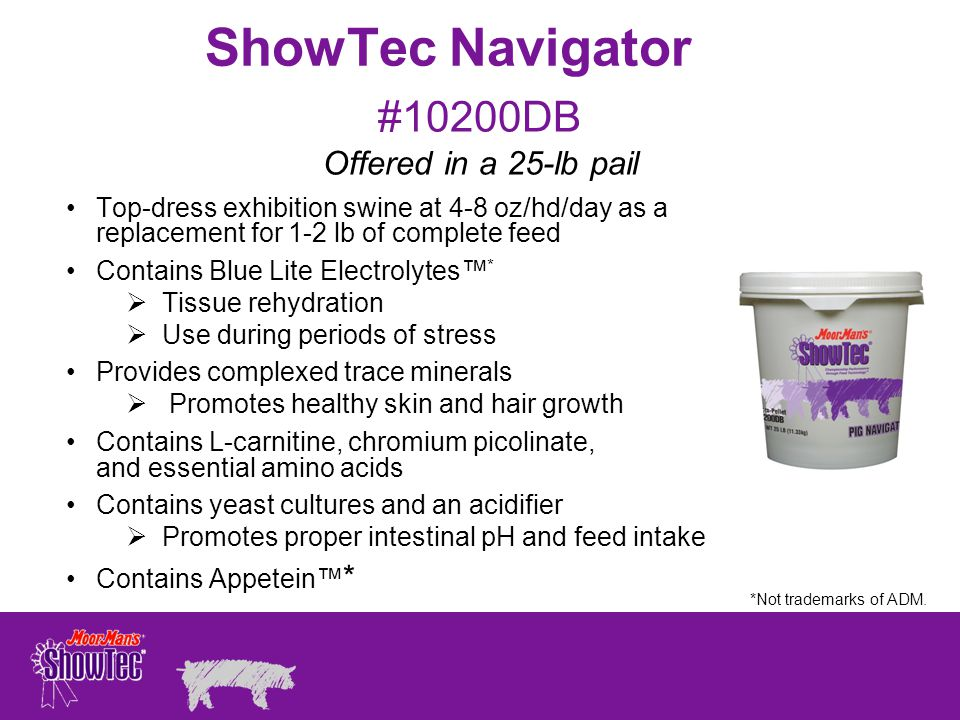 ShowTec Navigator #10200DB Offered in a 25-lb pail