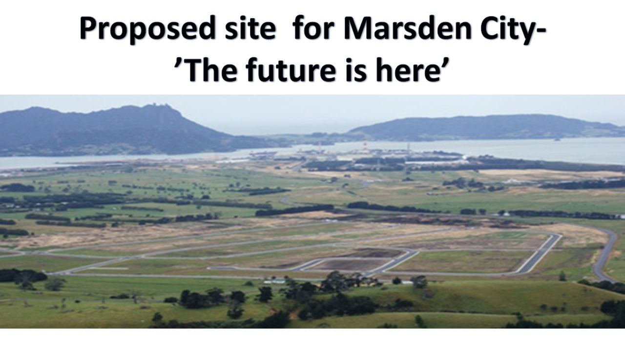 Proposed site for Marsden City-