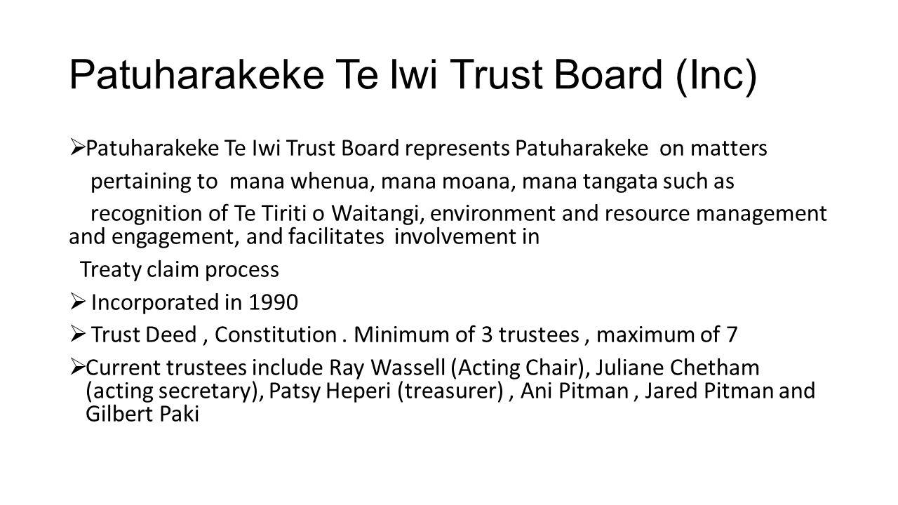 Patuharakeke Te Iwi Trust Board (Inc)