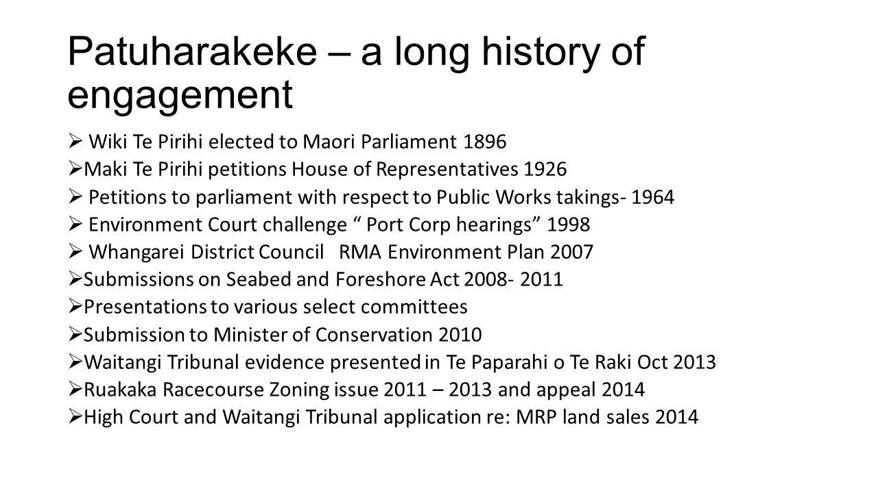 Patuharakeke – a long history of engagement