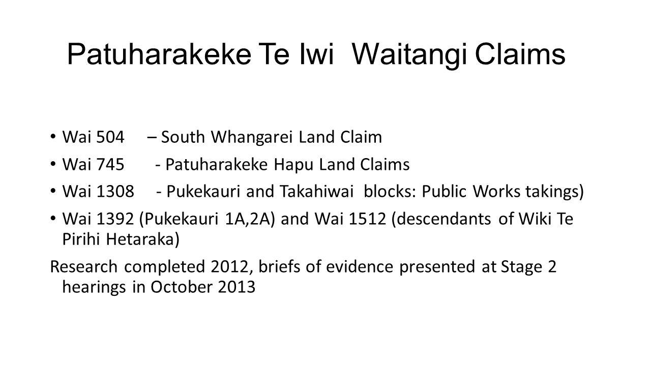 Patuharakeke Te Iwi Waitangi Claims