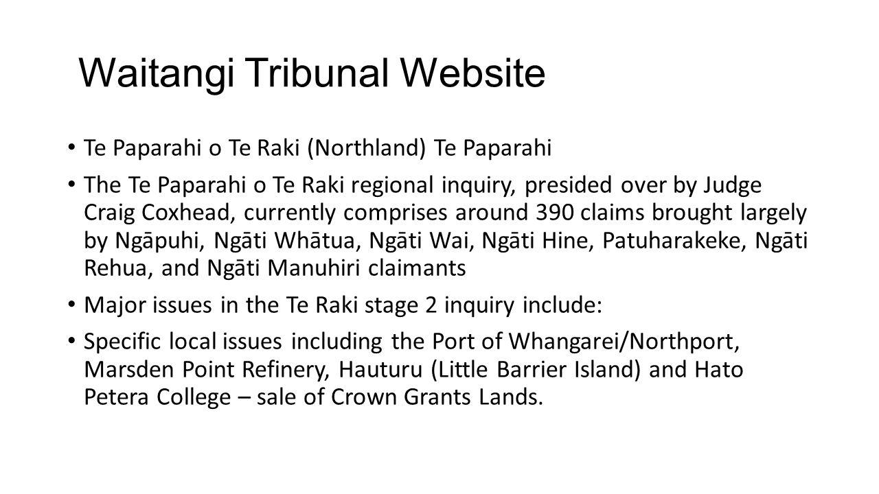Waitangi Tribunal Website
