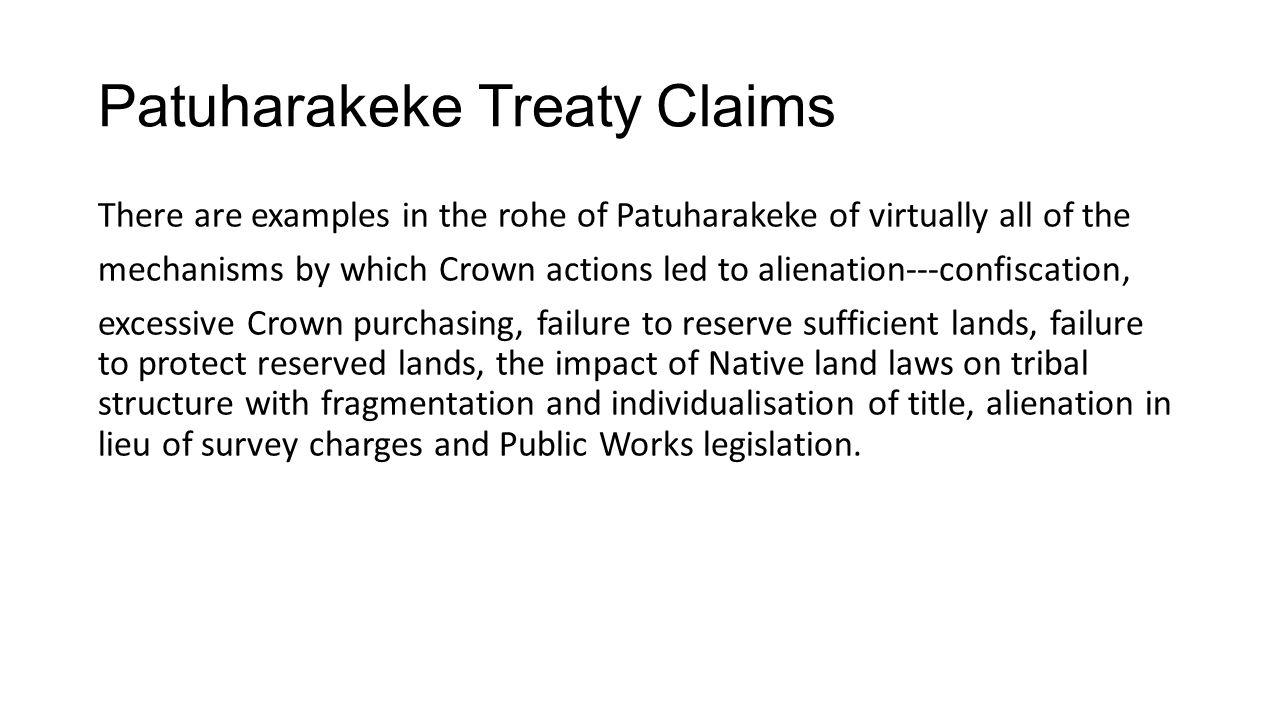 Patuharakeke Treaty Claims