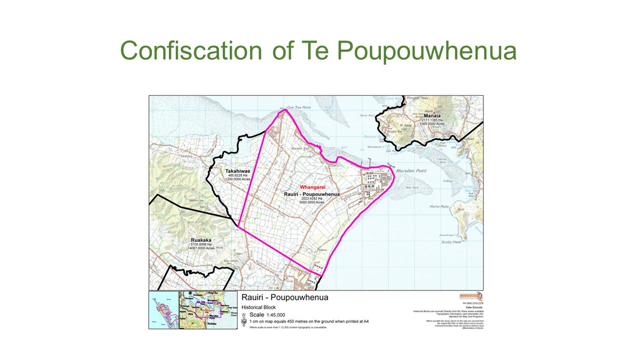 Confiscation of Te Poupouwhenua