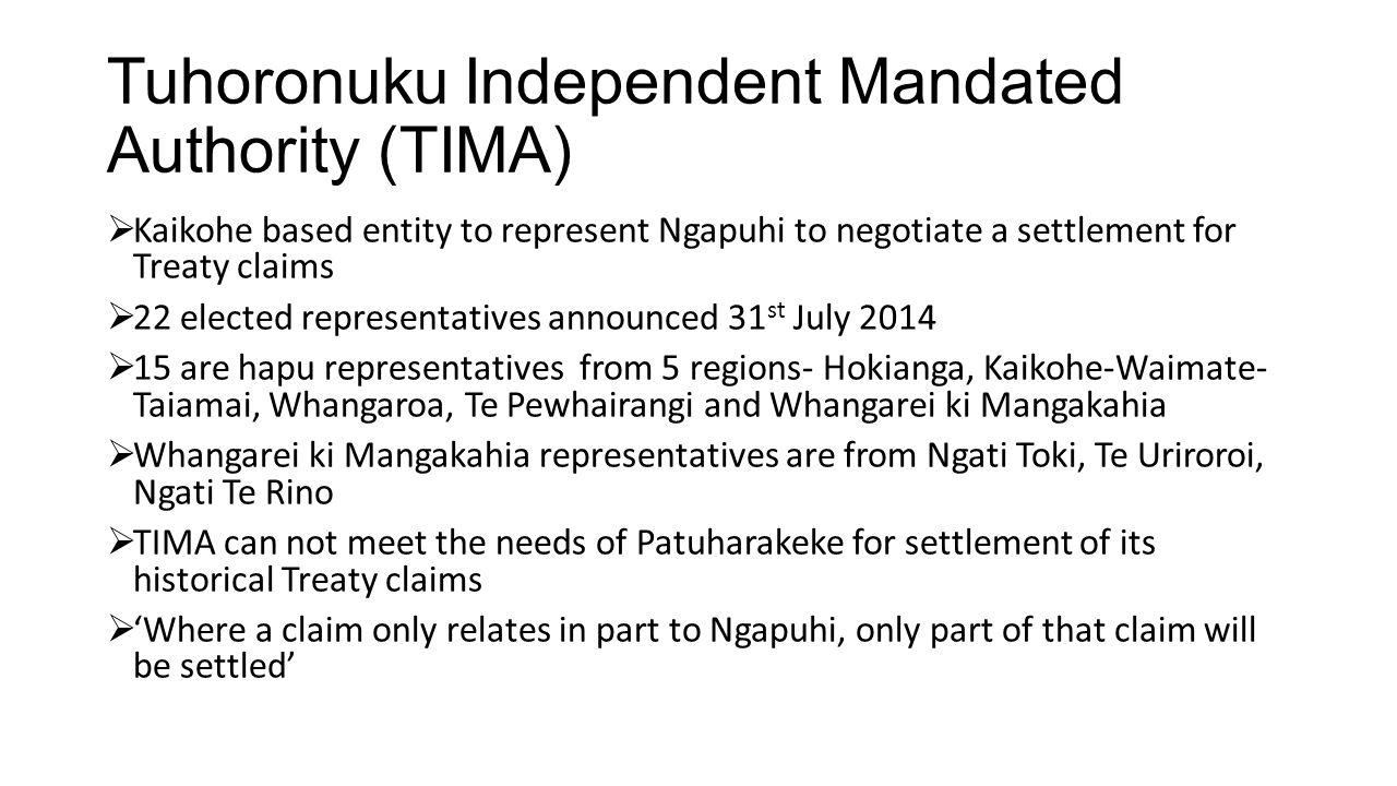Tuhoronuku Independent Mandated Authority (TIMA)