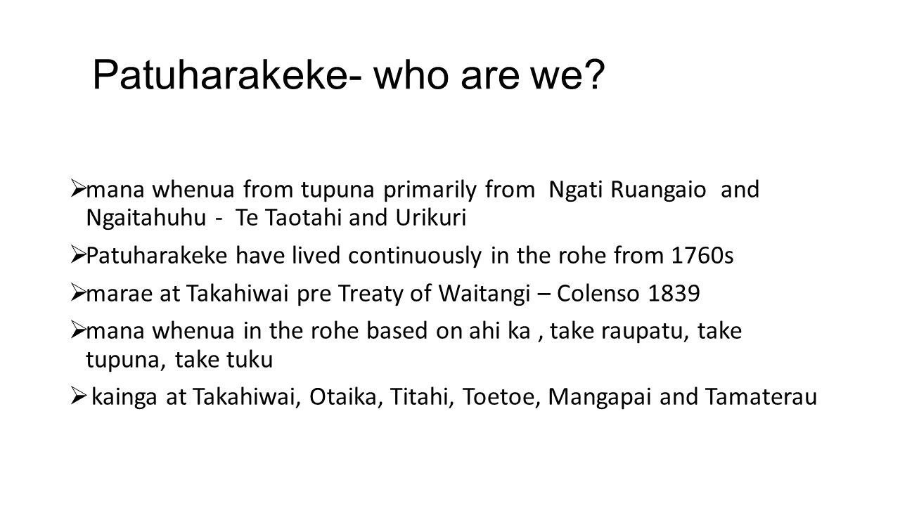 Patuharakeke- who are we