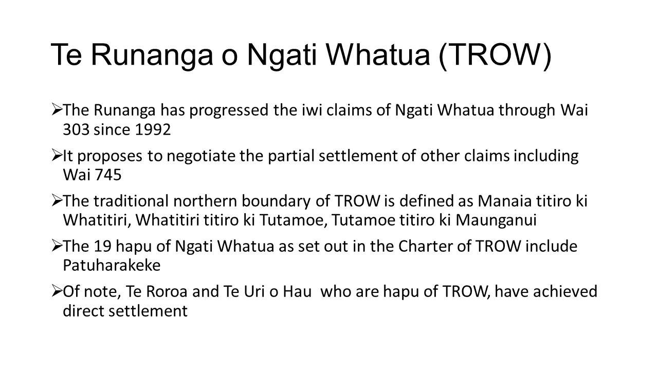 Te Runanga o Ngati Whatua (TROW)
