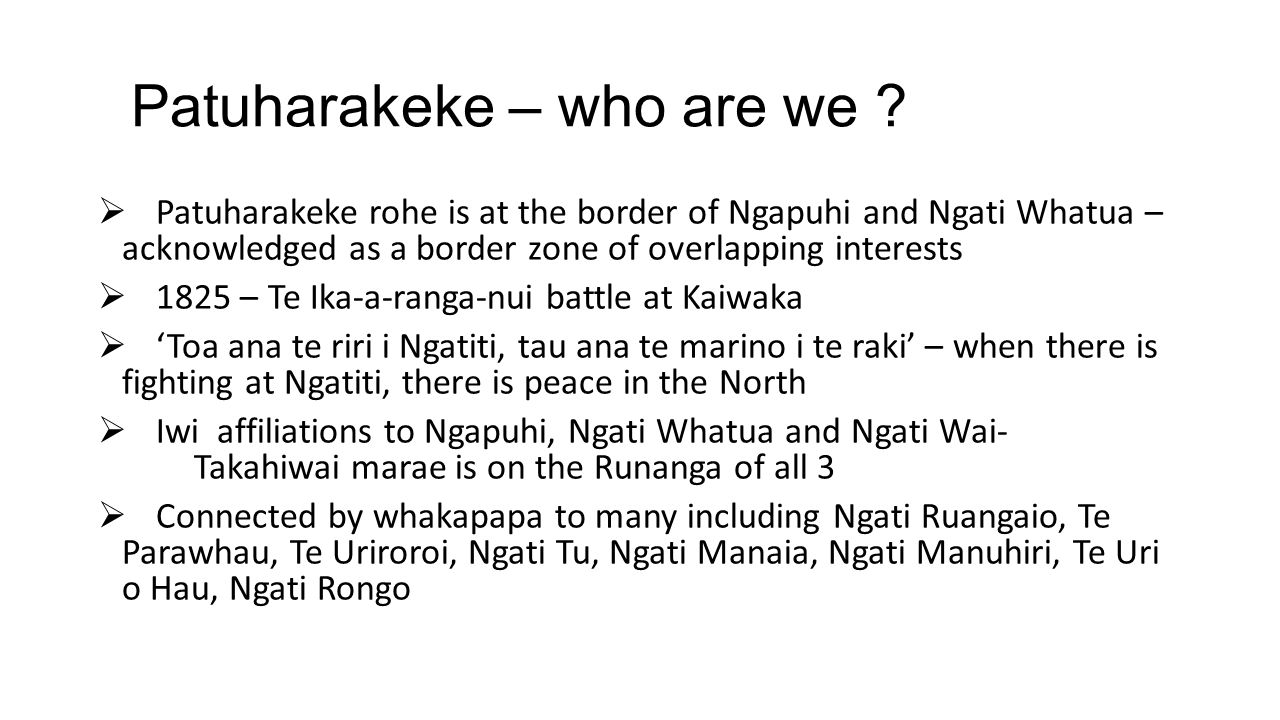 Patuharakeke – who are we