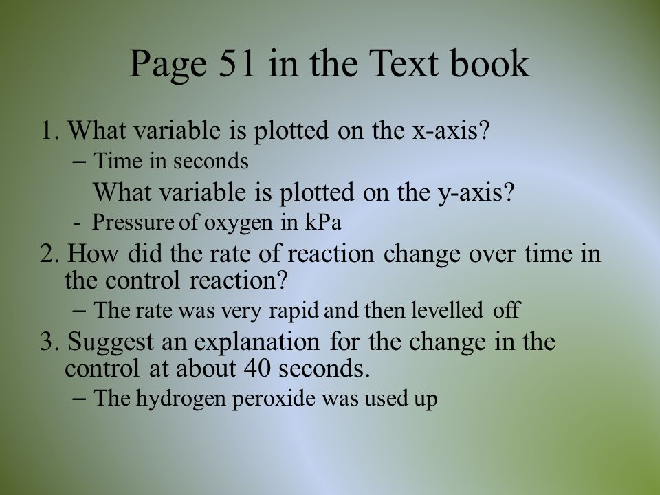 Page 51 in the Text book 1. What variable is plotted on the x-axis
