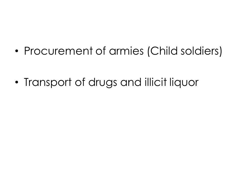 Procurement of armies (Child soldiers)