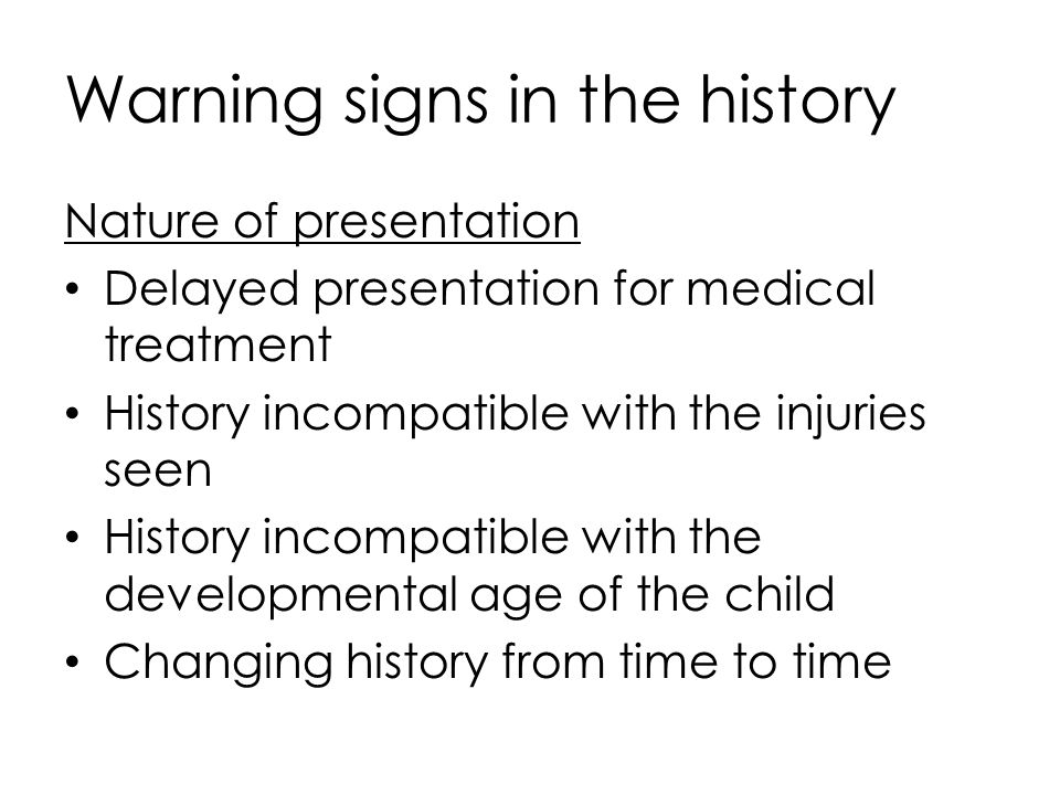 Warning signs in the history