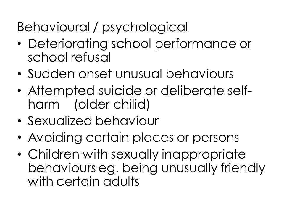 Behavioural / psychological