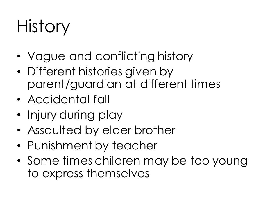 History Vague and conflicting history