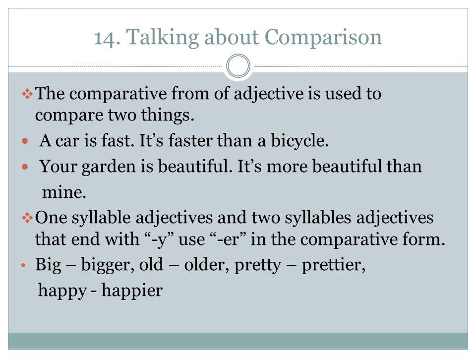 14. Talking about Comparison