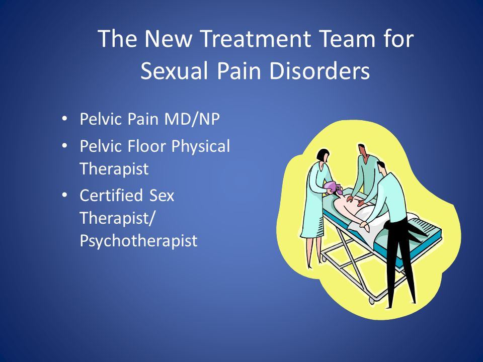 The New Treatment Team for Sexual Pain Disorders