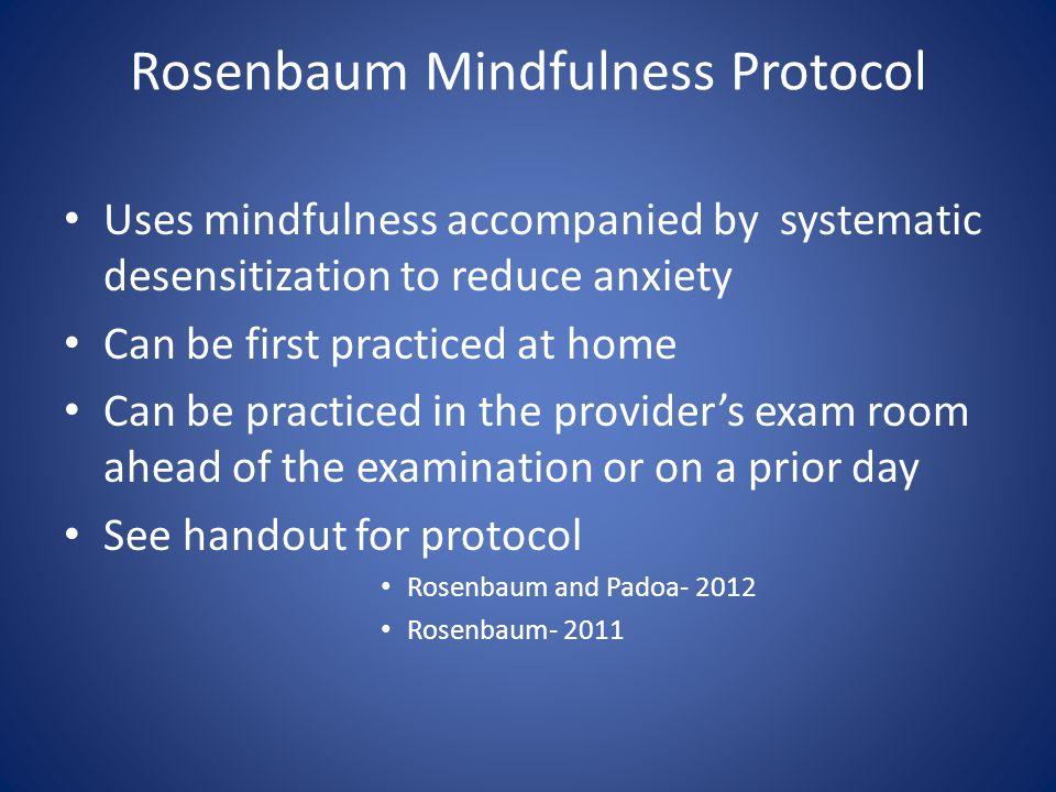 Rosenbaum Mindfulness Protocol