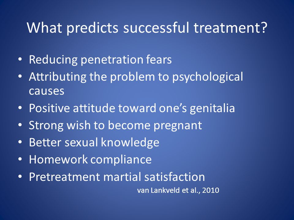 What predicts successful treatment