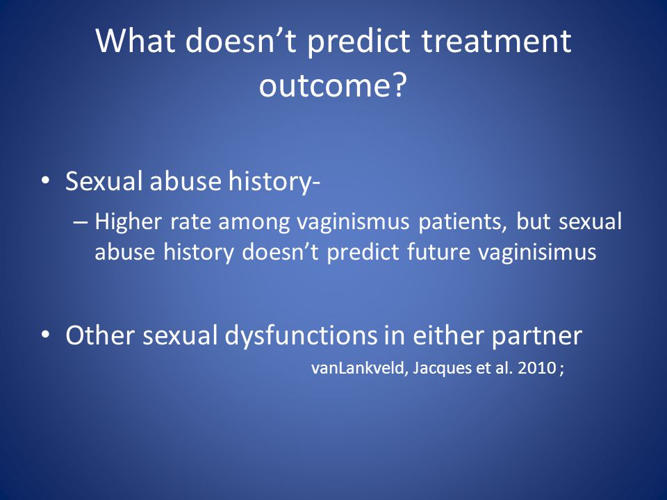 What doesn't predict treatment outcome