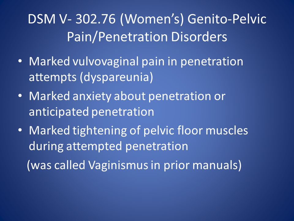 Painful Penetration At Late 50