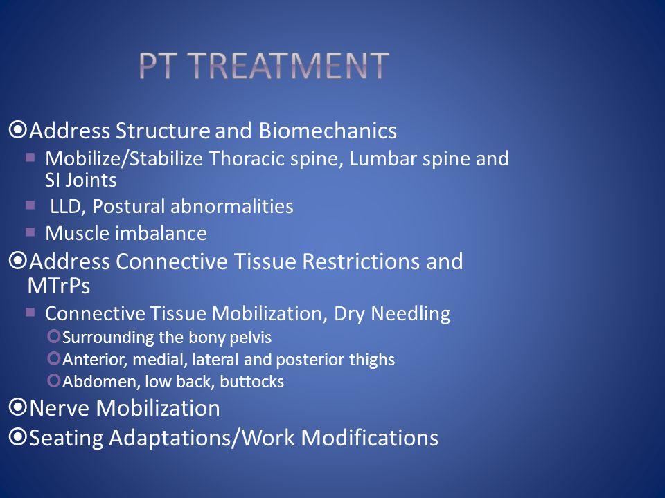PT Treatment Address Structure and Biomechanics