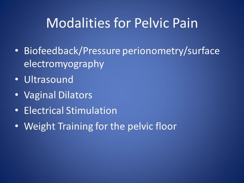 Modalities for Pelvic Pain